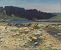 Alfred Munnings- A Stream Bed at Labergement Jura Forest (CWM 19710261-0469).jpeg