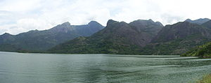 Aliyar Reservoir - A panoramic view of the Aliyar Reservoir