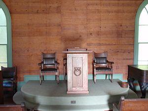 O'Kelly's Chapel - Pulpit inside the O'Kelly Chapel