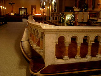 Altar rails - A set of altar rails in Saint Teresa's Carmelite Church, Dublin