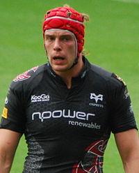 Enkelt walisisk rugby-spillere