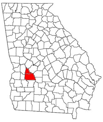 Americus micropolitan area - Location of the Americus Micropolitan Statistical Area in Georgia