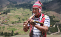 Amerindian man playing the Inca flute.png