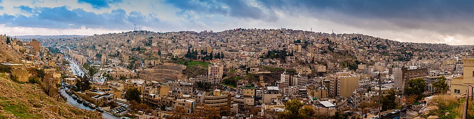 Panorama of Amman from the Citadel hill