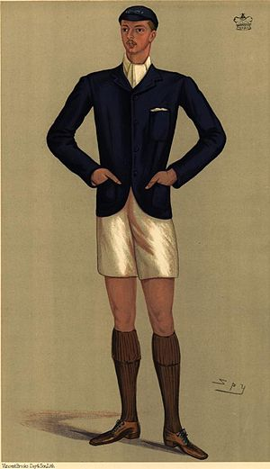 Oliver Russell, 2nd Baron Ampthill - Caricature of Arthur Russell as OUBC president by Spy in Vanity Fair, 1891