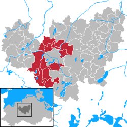 Amt Güstrow-Land – Mappa