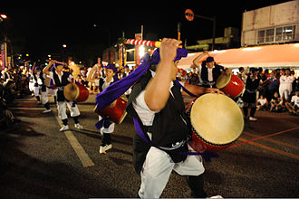 Taiko - Eisa are folk dances from Okinawa that involve the use of taiko while dancing.