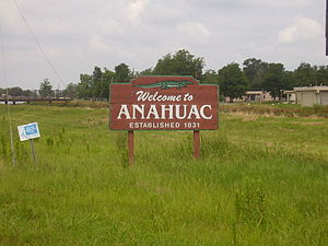Anahuac, Texas - Entrance sign