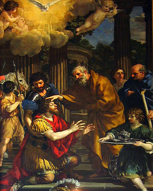 Conversion of Paul the Apostle - Ananias Restoring the Sight of St. Paul (c.1631) by Pietro da Cortona.