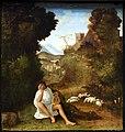 Andrea previtali, scene dalle ecloghe di tebaldeo, la storia di damone, 1510 ca. 02.jpg
