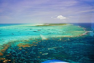 Anegada - Horseshoe Reef extends southeastward from Anegada