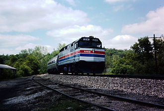 Wolverine (train) - The Turboliner's replacement - an EMD F40PH with Amfleet coaches - in 1976