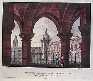 Anna Bolena - Set design by Alessandro Sanquirico for the 1830 premiere