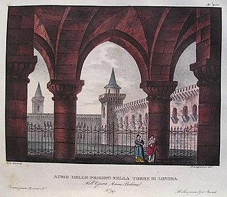 Anna Bolena - Set design by Alessandro Sanquirico for the 1830 premiere