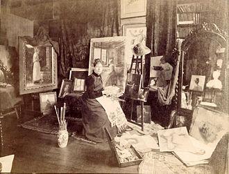 Anna Elizabeth Klumpke - Anna Klumpke in her studio