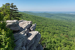 Appalachian Trail by state - Annapolis Rock Overlook, found along the trail in South Mountain State Park