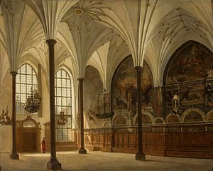 Interior of the Artus Court in Gdańsk.