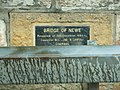 Another plaque on Bridge of Newe - geograph.org.uk - 446878.jpg