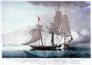 Antelope (1780 packet ship) - Image: Antelope and Atalante