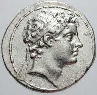 Antiochus V Eupator - Image: Antiochus V Eupator, coin, front side