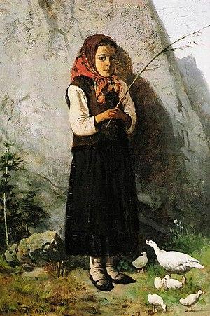 Antoni Gramatyka - Image: Antoni Gramatyka Gęsiarka 1881