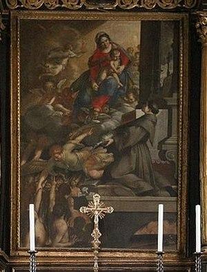 Antonio Randa - Image: Antonio Randa, Madonna del Suffragio e Sant'Antonio, Oratorio del Suffragio (Comacchio)