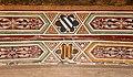 Antonio vite e collaboratore, miracolo del cuore dell'avaro, 1390-1400 ca., testine 08 stemmi.jpg