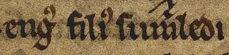 Aonghus mac Somhairle - Image: Aonghus mac Somhairle (British Library Cotton MS Julius A VII, folio 41r)