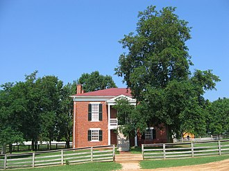 "Old Appomattox Court House - Reconstructed Old Appomattox County ""Court House"""