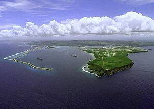 History of Guam - Guam contains several military bases including the United States Naval Station on the Orote Peninsula shown here.