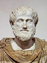 Marble statue of Aristotle.