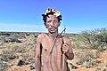 Arri Raats, Kalahari Khomani San Bushman, Boesmansrus camp, Northern Cape, South Africa (20540035575).jpg