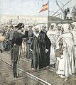 Arrivée des ambassadeurs marocains à Algésiras 1906.jpg