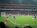 Arsenal have a corner - geograph.org.uk - 1612772.jpg