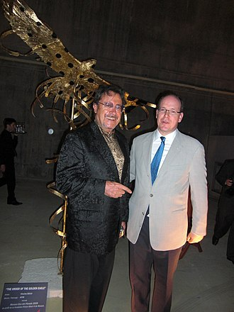 Charles Billich - Artist Charles Billich and HSH Prince Albert II of Monaco.