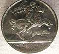 Artista italiano del XV o XVI secolo, melagro a cavallo che caccia il cinghiale.JPG