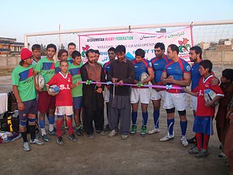 Rugby union in Afghanistan - Asad Ziar, Chief Executive Officer, ARF, inaugurating The Hindukush Rugby Club