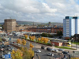 Ashton-under-Lyne - View on Tameside Metropolitan Borough offices