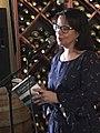 Asmaa Aouattah presentant L'Etern Retorn.jpg