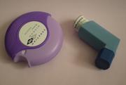 Asthma medication: left Seretide, right salbutamol