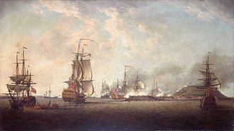 Capture of Gorée - Overview of the attack on Gorée by Dominic Serres