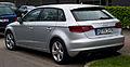 Audi A3 Sportback 1.6 TDI Ambition (8V) – Heckansicht, 6. April 2014, Düsseldorf.jpg
