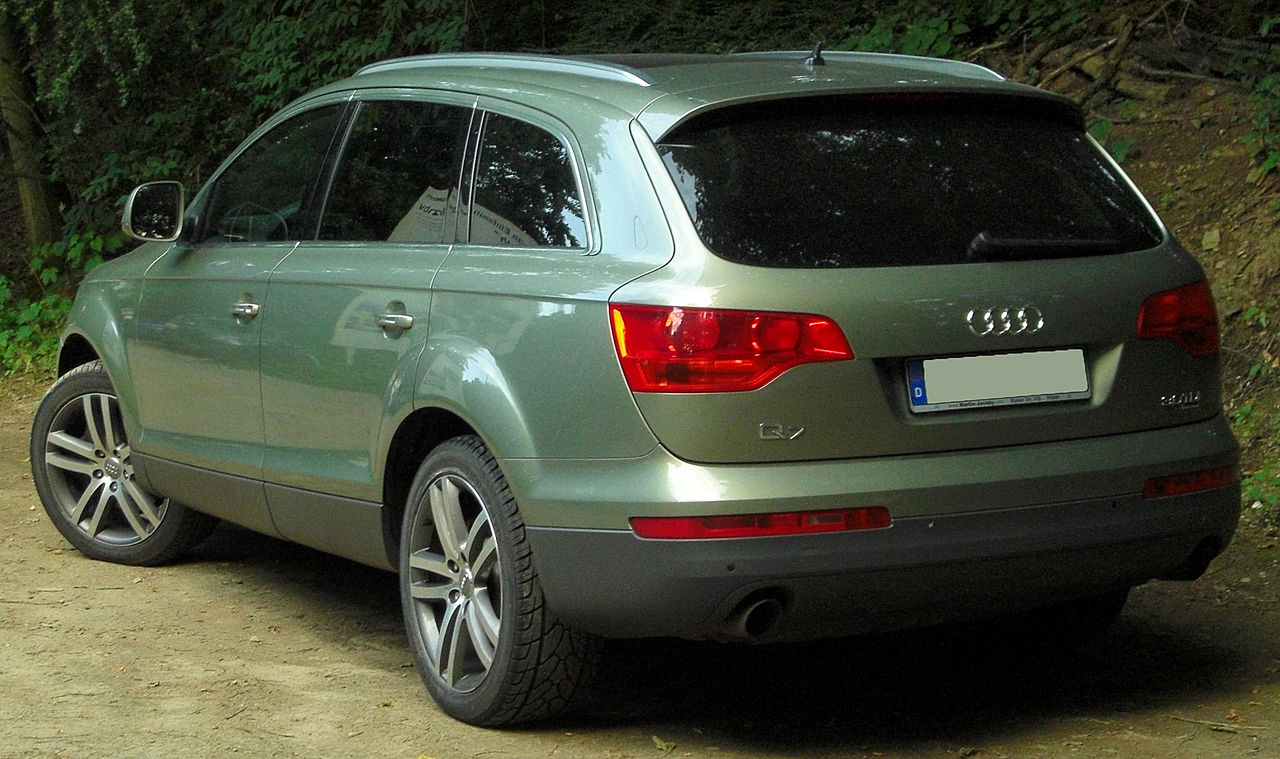 file audi q7 3 0 tdi quattro rear wikimedia commons. Black Bedroom Furniture Sets. Home Design Ideas