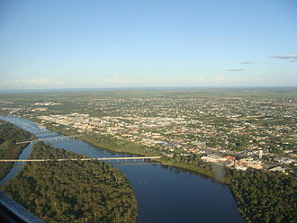 Burnett River - Bridges across the river in Bundaberg