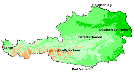Geography Of Austria Wikipedia - Austria climate map
