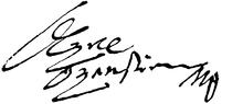Oxenstiernas Unterschrift