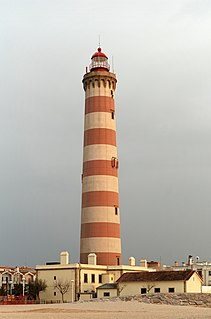 Lighthouse Structure designed to emit light to aid navigation