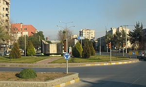 Aydın - Crossroads in roundabout near Aydın city entry