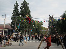 Azerbaijan-Pomegranate Festival acrobat's performance (e-citizen).jpg