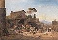 Bürzel, Heinrich - Trattoria vor der Porta San Sebastiano vor Rom - Neue Pinakothek, Munic.jpg
